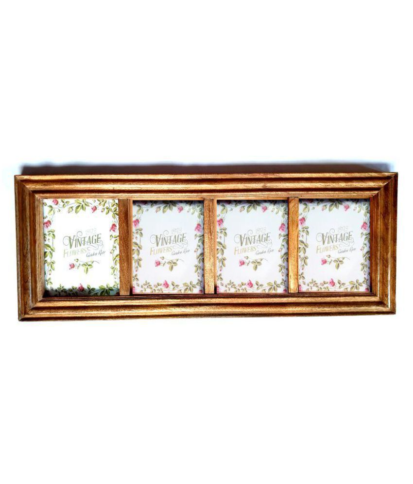 Wood Craft India Wood Wall Hanging Antique Photo Album - Pack of 1