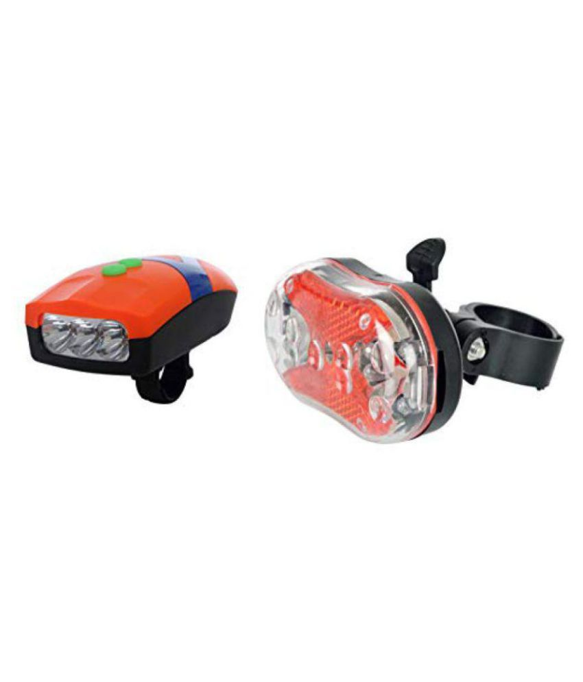 Dark Horse Bicycle 3 LED 3 Mode Front Light  amp; Horn  amp; Super Bright 3 LED 7 Mode Tail Light Combo