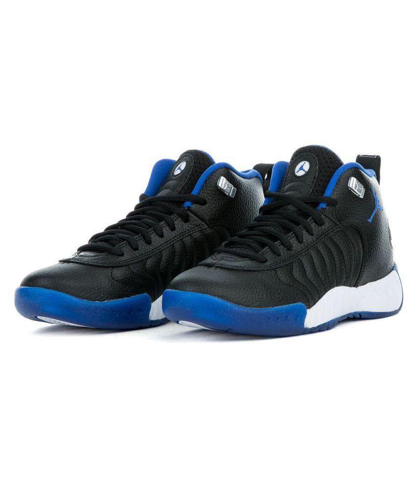best sneakers 9ccd5 cac4f Nike Nike Jordan Jumpman Pro Black Blue Midankle Male Black  Buy Online at  Best Price on Snapdeal