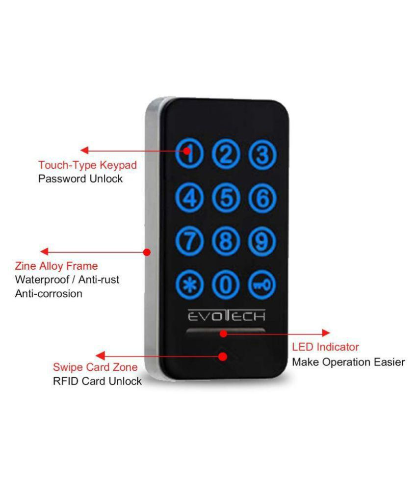 Evotech RFID Card & Password Drawer Cabinet Locks/Digital Door Lock for  Locker, Office & Home - ETC22