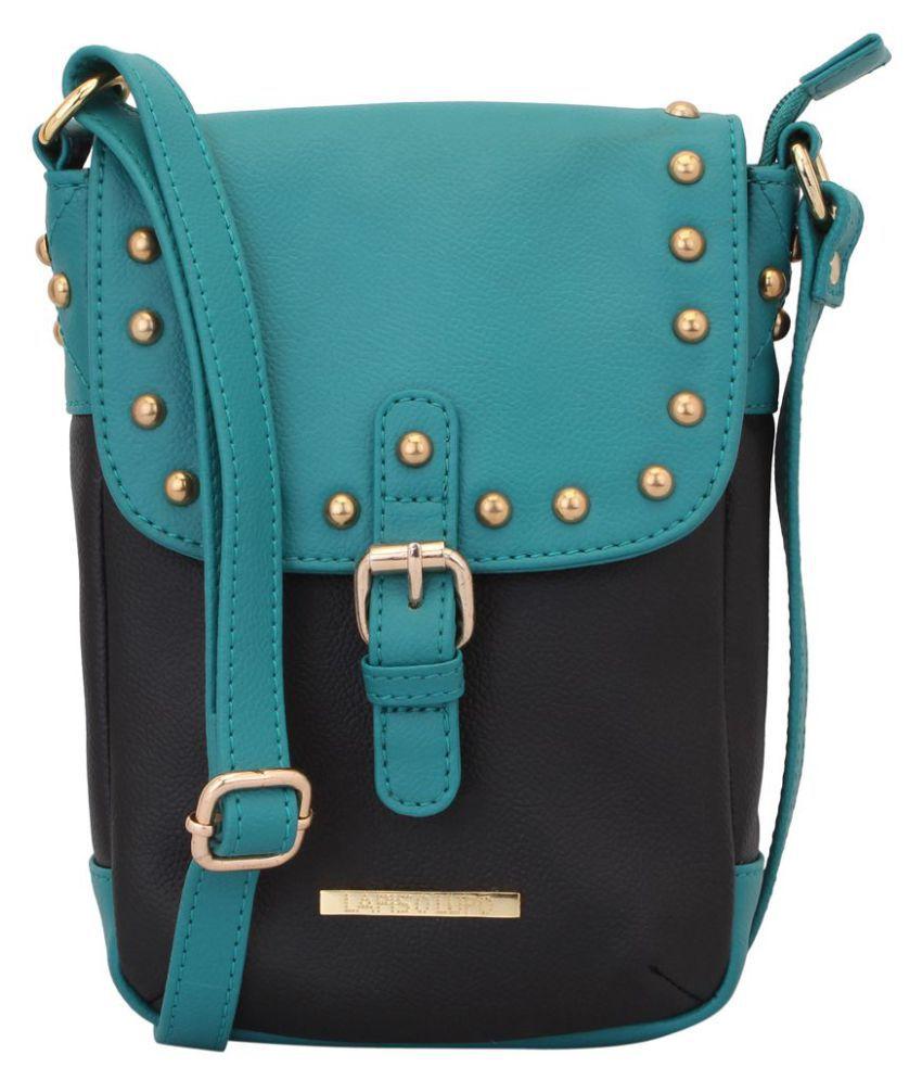 Lapis O Lupo Turquoise P.U. Sling Bag