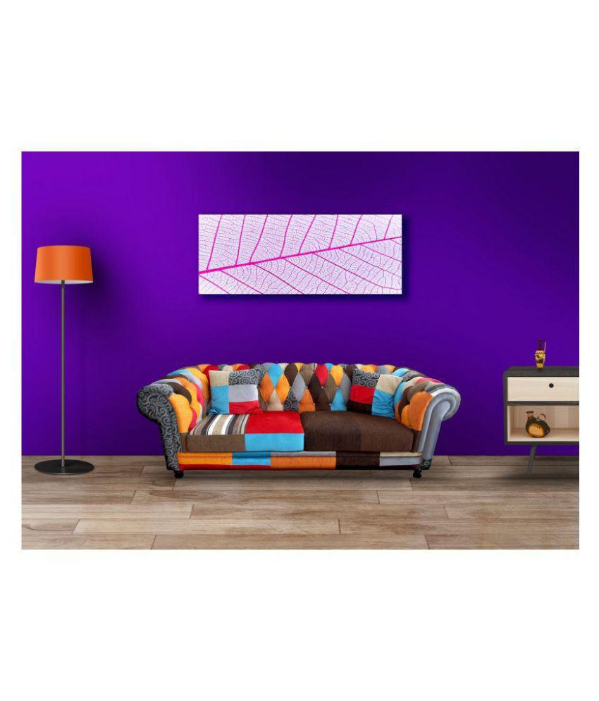 Lila Abstract Art Canvas Painting With Frame