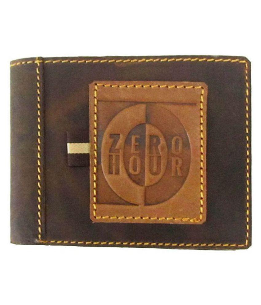 Zero Hour Leather Brown Casual Regular Wallet
