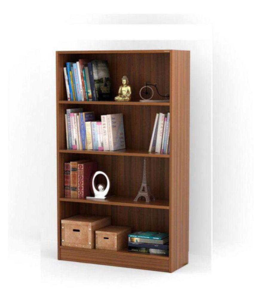 Bluewud Alex Wall Book Shelf Home Decor Display Storage Rack Cabinet Unit  Walnut