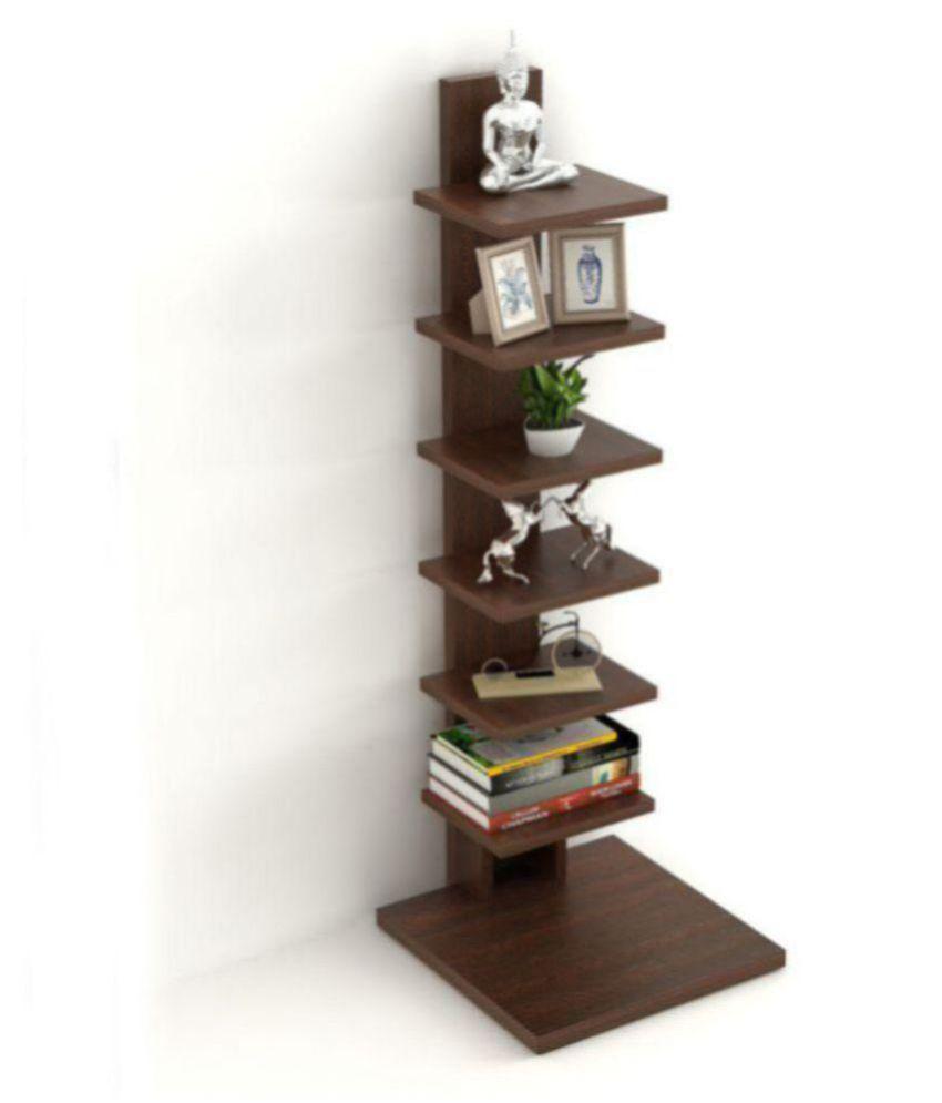 bluewud osvil floor standing book shelf rack display case wenge rh snapdeal com
