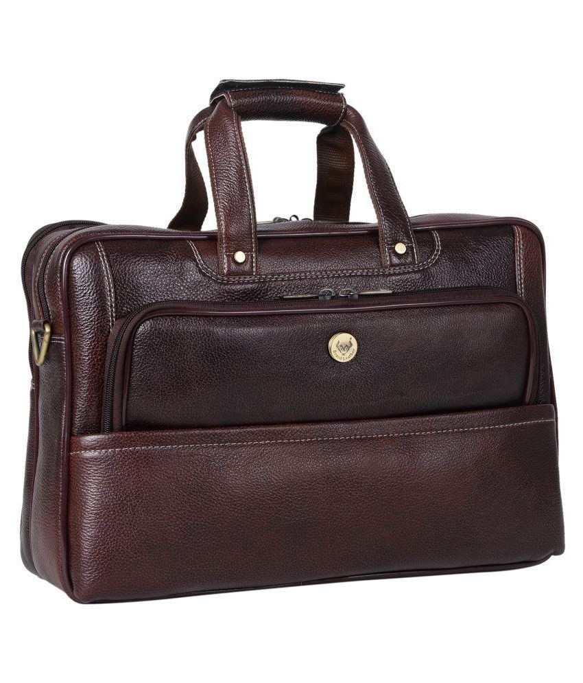 Brand Leather Brown Leather Office Bag