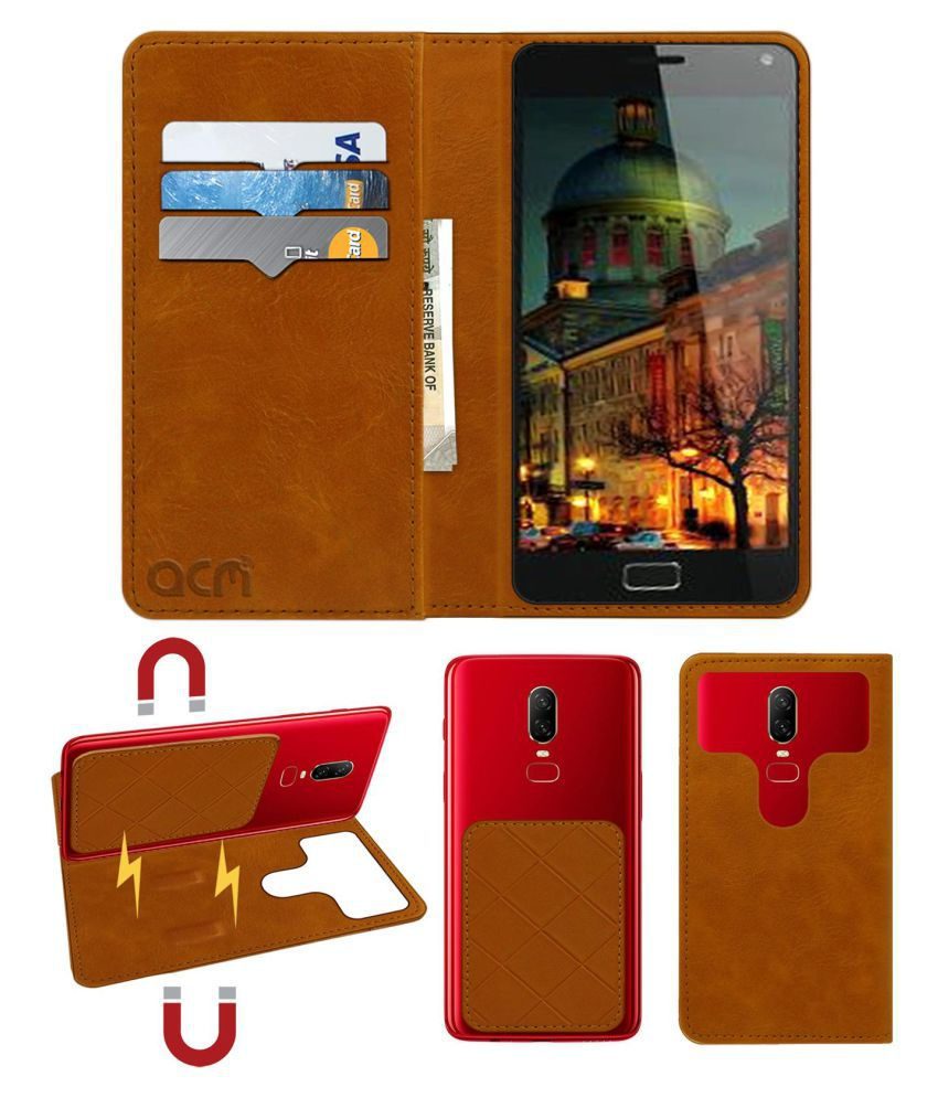 Lenovo Vibe P2 Flip Cover by ACM - Golden 2 in 1 Detachable Case,Attachable Flip With Magnet