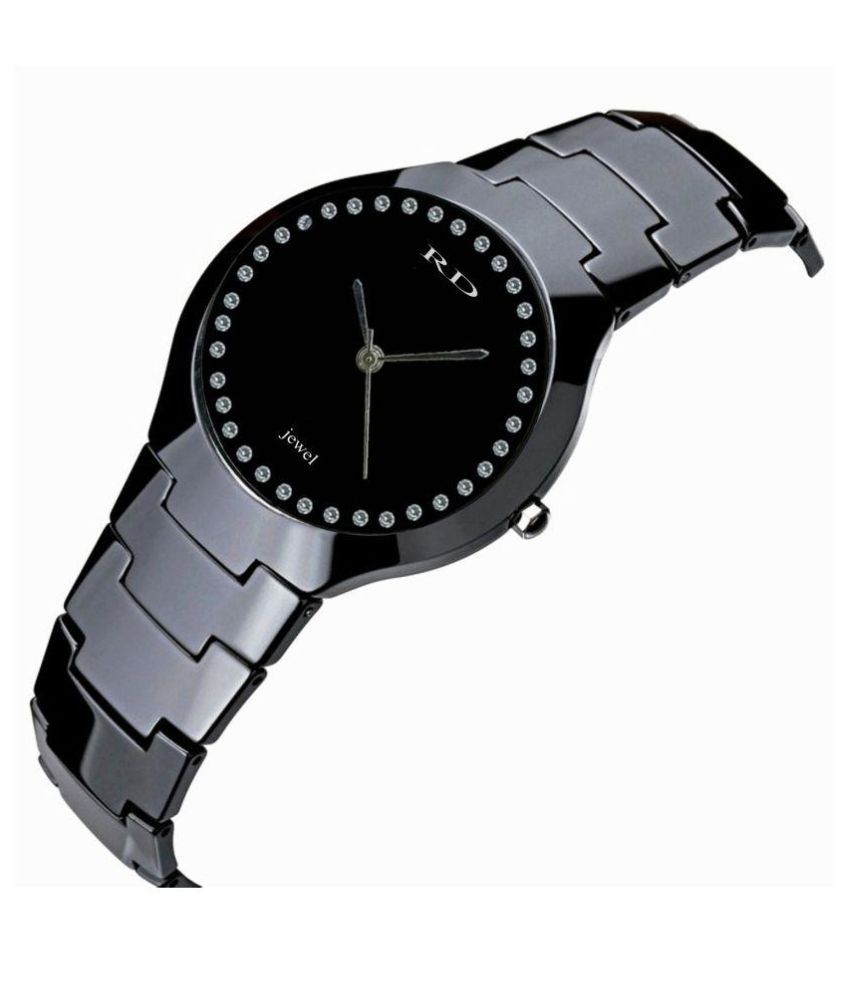 RD jewel CERAMIC BLACK LUXURY DIAMOND Ceramic Analog Men's Watch