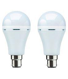 Homes Decor 12W Emergency Light /Intelligent/Inverter/Rechargeable LED Light White - Pack of 2