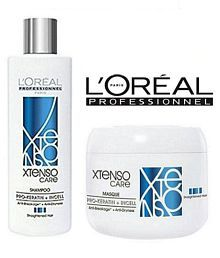 longlasting X-Tenso Care Straight Masque & Shampoo + Conditioner 550 ml