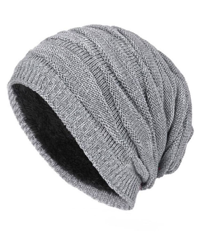 460dbce2a Winter Men Women Beanies Solid Color Unisex Plain Warm Knitting Slouchy Cap  Hat