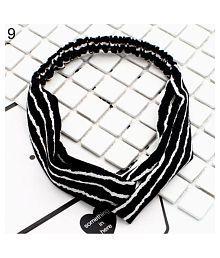 Boho Women Headband Floral Print Cross Head Wrap Yoga Sport Elastic Hair Band