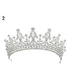 Luxury Queen Bride Princess Crown Shiny Rhinestone Headband Women's Jewelry