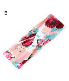 Women's Yoga Elastic Cute Bow Hairband Knotted Rabbit Hair Band Floral Headband