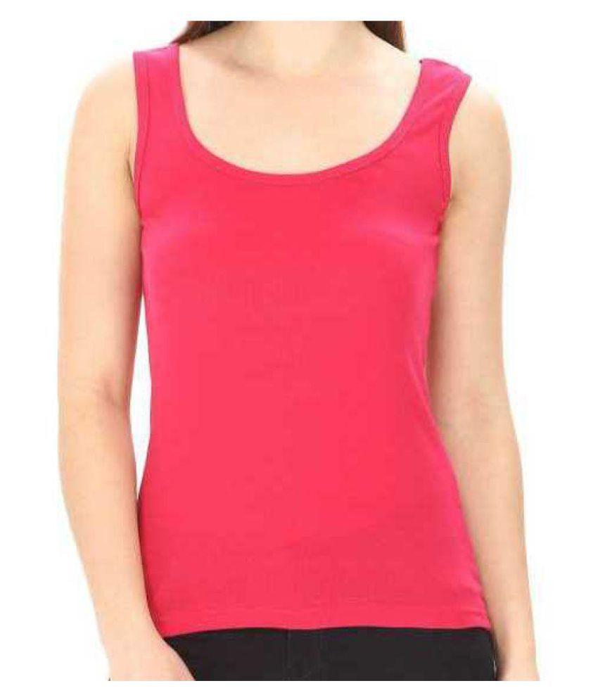 Skandas Trendz Cotton Lycra Camisoles - Pink