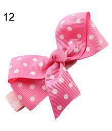 Baby Girl Kids Cute Polka Dot Hair Ribbon Bows Headband Elastic Infant Hairband