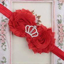 Baby Girl's Cute Fashion Crown Flower Headband Newborn Hairband Toddler Headwrap