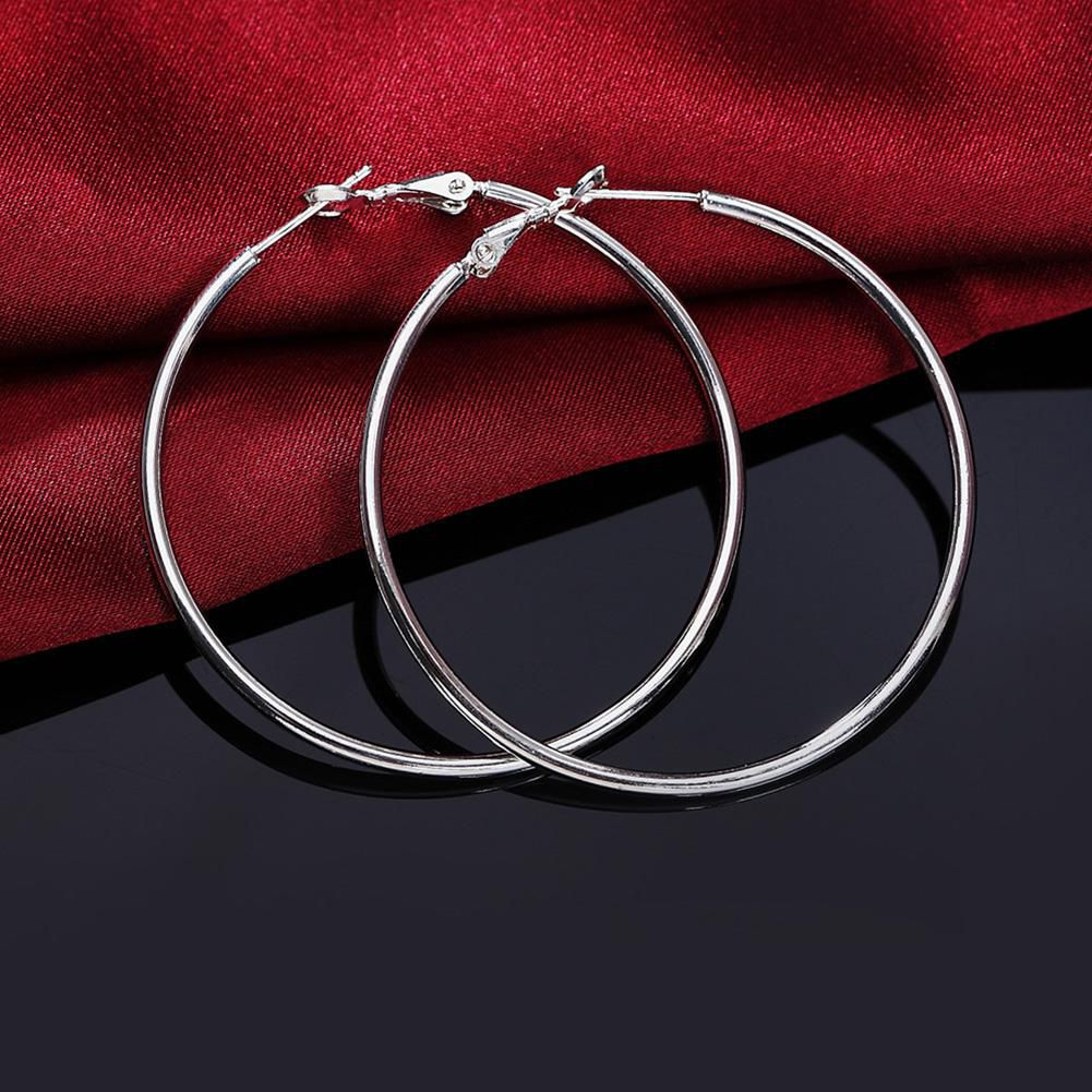 Women Fashion 5cm Diameter Cut Large Round Hoop Earrings Club Party Jewelry Fashion Jewellery