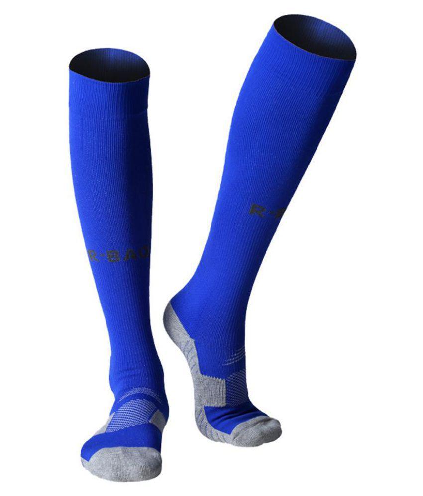 ef5b5ba93 ... 1 Pair Cotton Long Soccer Socks Sport Men Football Ankle Calf Guard  Protector ...