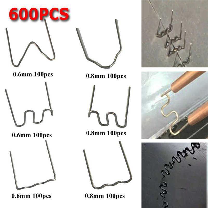 600pcs Stainless Steel Standard Pre Cut 0.8mm/0.6mm Hot Staples for Plastic Stapler Car Bumper Repair Hine W elder
