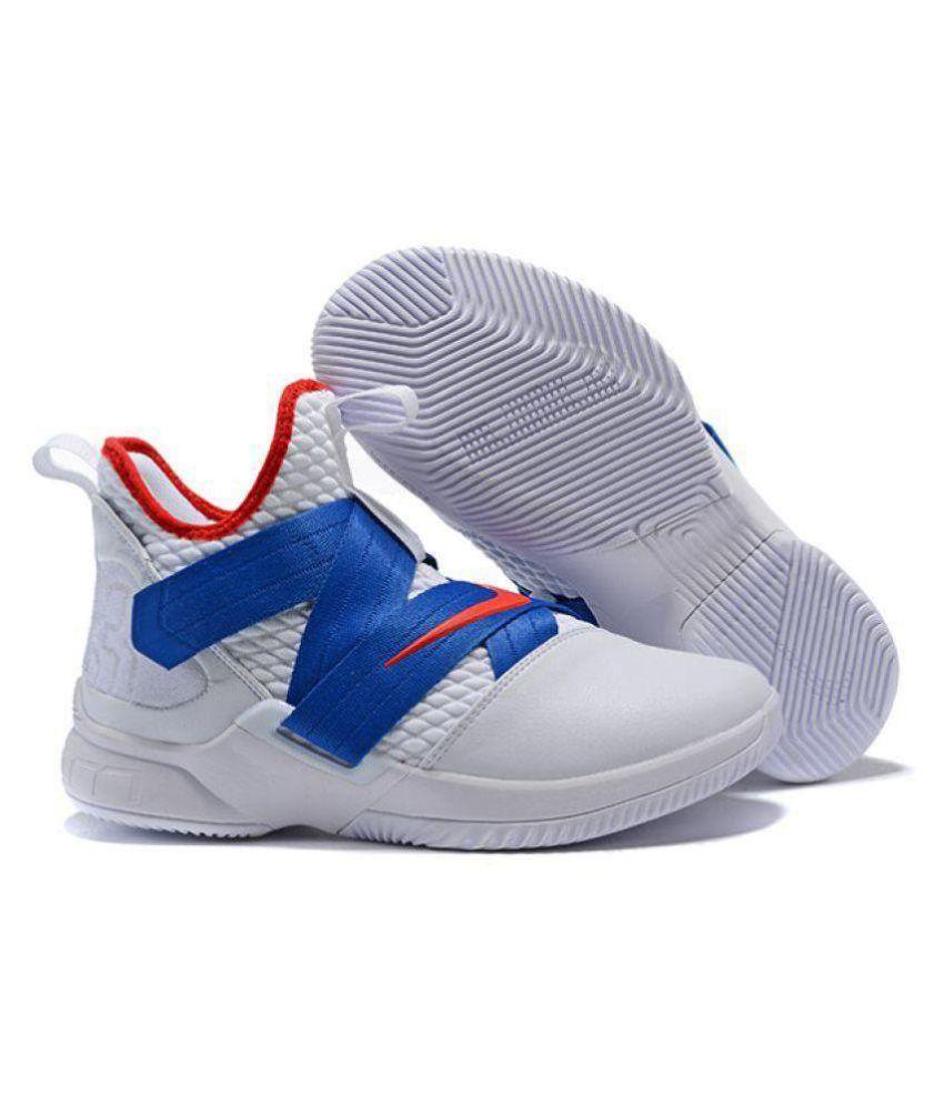 best loved cc589 de6c4 Nike Lebron Soldier White Blue Midankle Male White