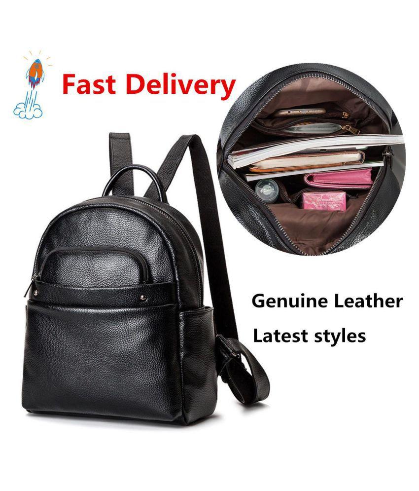 New Women/'s Genuine Leather Backpack Handbag Rucksack Shoulder Travel School Bag