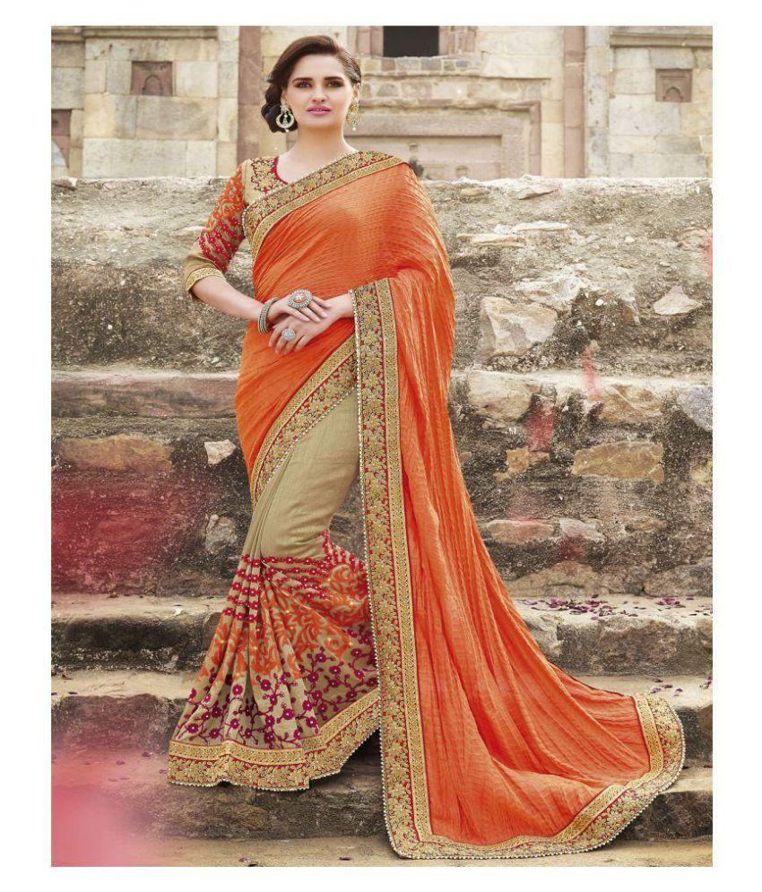 92099911833 Zofey Bollywood Designer Sarees Orange Georgette Saree - Buy Zofey  Bollywood Designer Sarees Orange Georgette Saree Online at Low Price -  Snapdeal.com