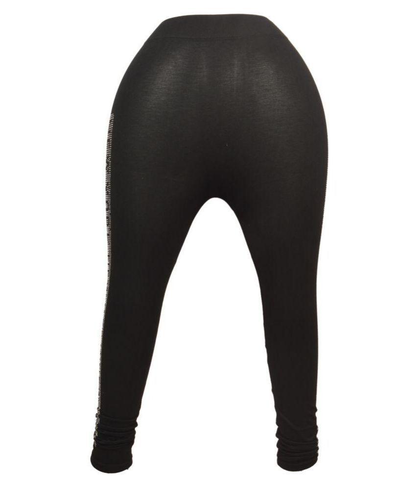 kumars collection Cotton Lycra Tights - Black