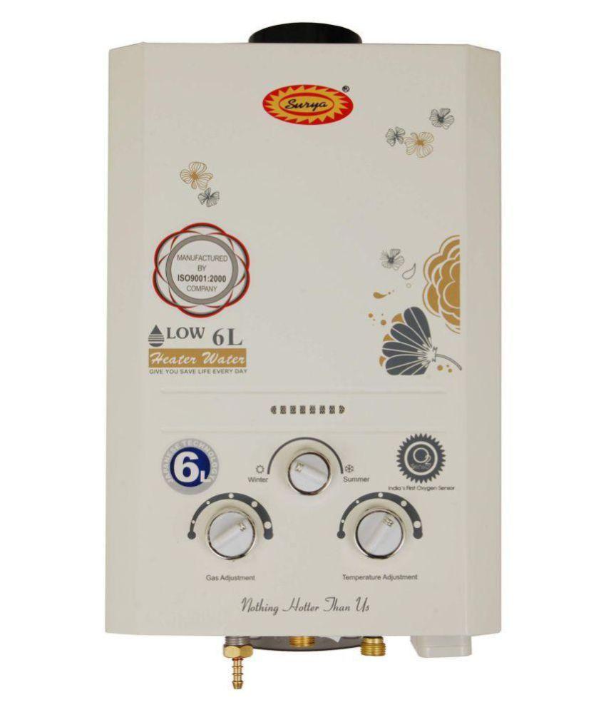 Surya. 6 Ltr JSD-12-20B-04 INSTANT Gas - Geysers Cream
