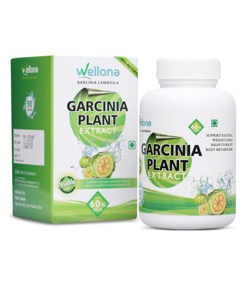 Wellona Garcinia Cambogia Plant Extract With 60 Hca For Weight Loss Pack Of 2 90 Gm Unflavoured Pack Of 2