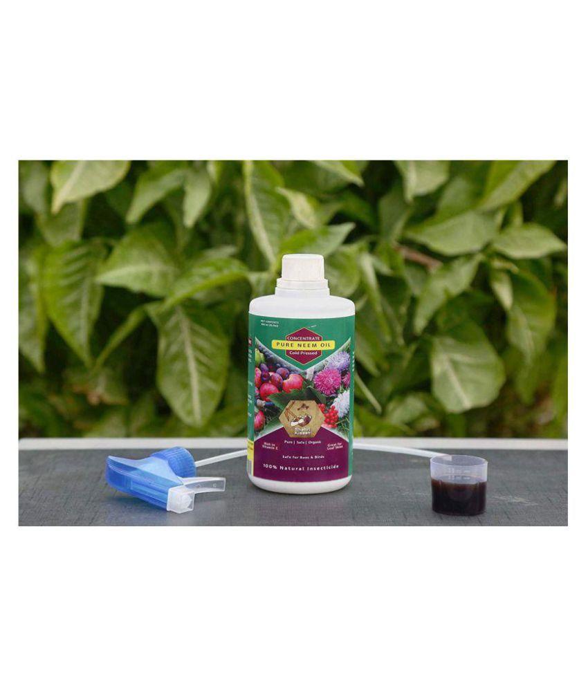 SHEHRI KISAAN Pure Neem Oil for Plants- 1000 ml bottle Liquid Extract  Fertilizer 1 Litre