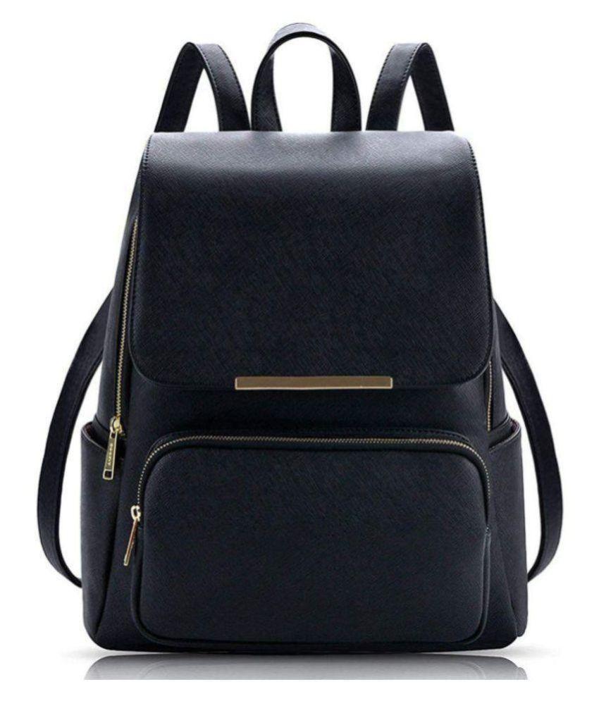 shuklas ladies bag Black P.U. Backpack