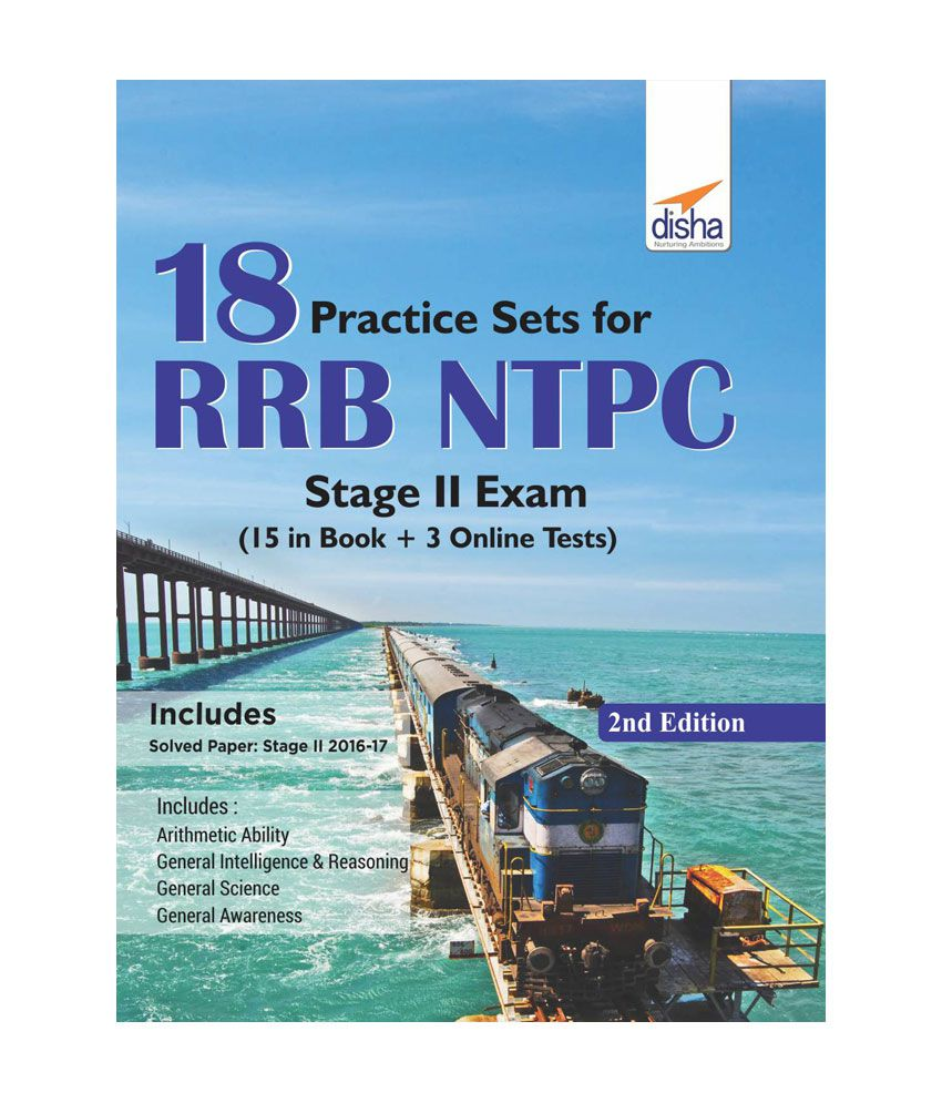 18 Practice Sets for RRB NTPC Stage II Exam (15 in Book + 5 Online Tests)  2nd Edition