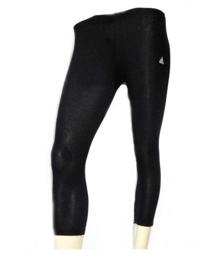 Adidas Cotton Lycra Tights - Black