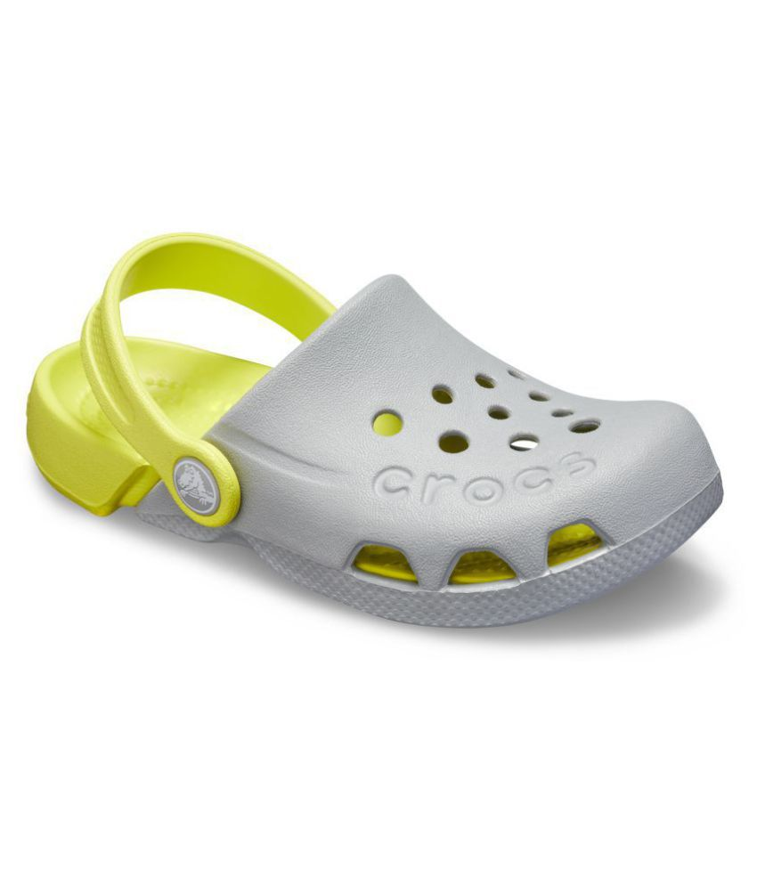 80dd44418 Crocs Kids Grey Electro Clogs 10400-06T Price in India- Buy Crocs Kids Grey  Electro Clogs 10400-06T Online at Snapdeal