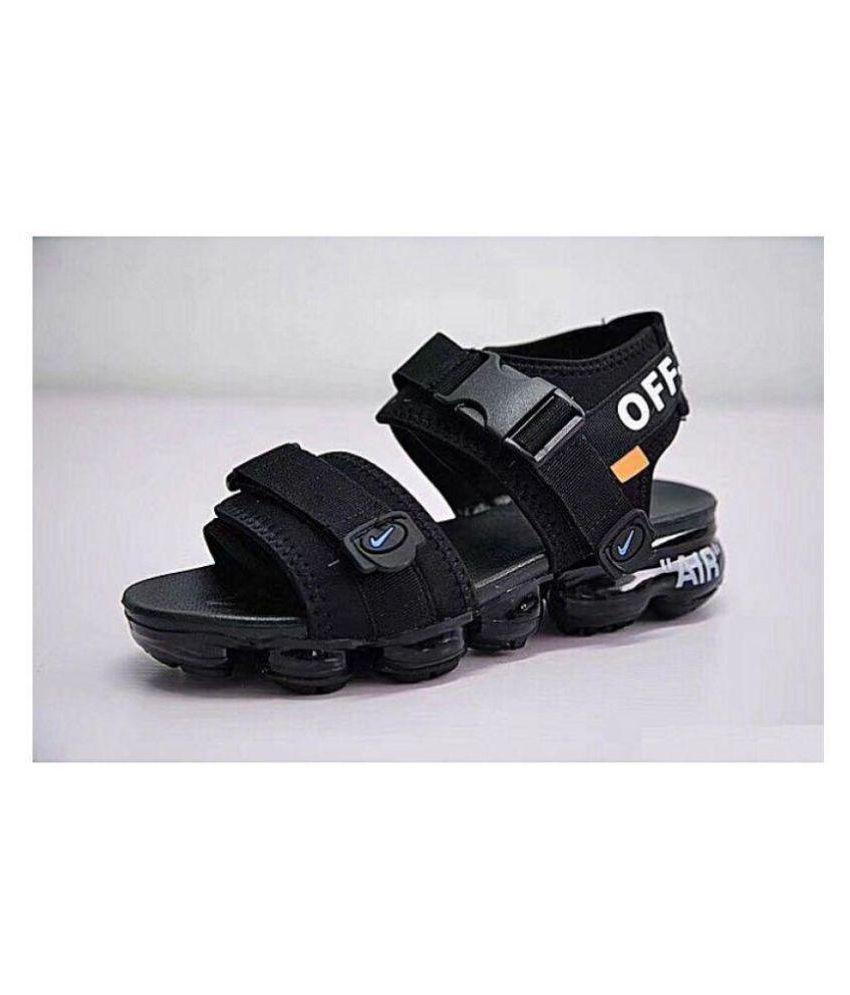 code promo 239a8 3e904 Nike Black Denim Sandals
