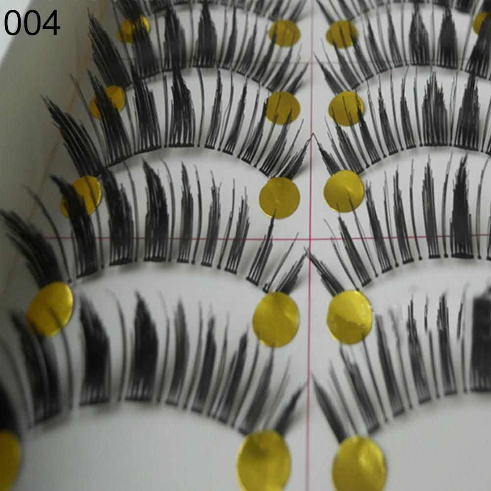 7dda85bf1c5 10 Pairs Fashion Makeup Handmade Natural Thick Long False Eyelashes Eye  Lashes: Buy 10 Pairs Fashion Makeup Handmade Natural Thick Long False  Eyelashes Eye ...