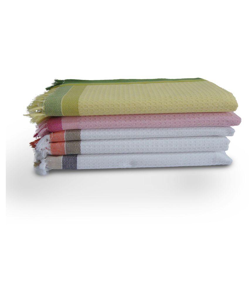 Athom Trendz Set of 5 Cotton Bath Towel Multi