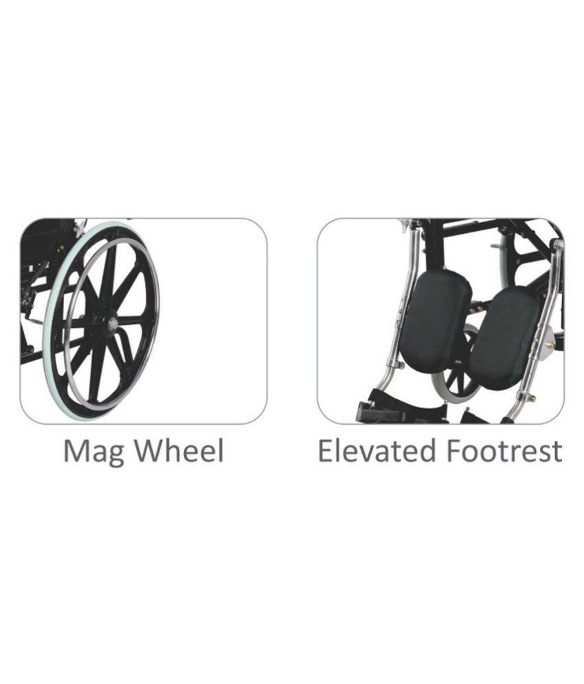 vissco rehabilitation reclining wheelchair with elevated footrest rh snapdeal com