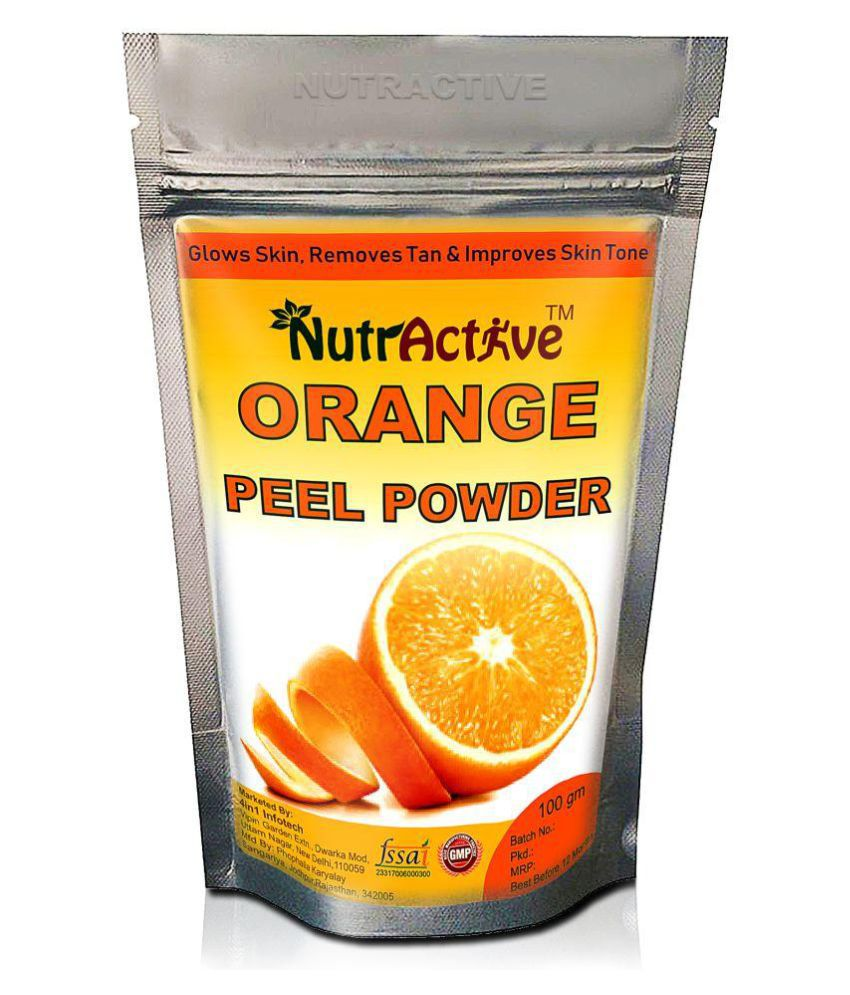 NutrActive Orange Peel Powder for Skin Whitening 100gm Facial Kit gm