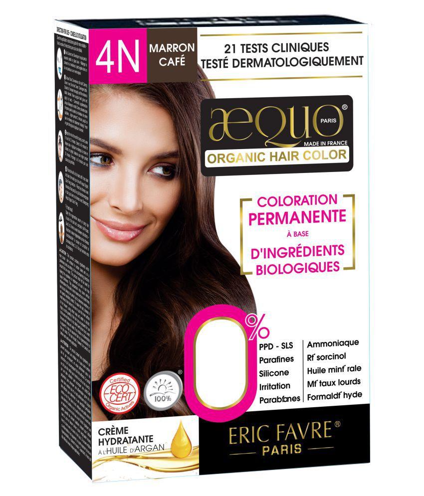 Aequo Organic Women 4N Semi Permanent Hair Color Brown Medium Brown 170 ml