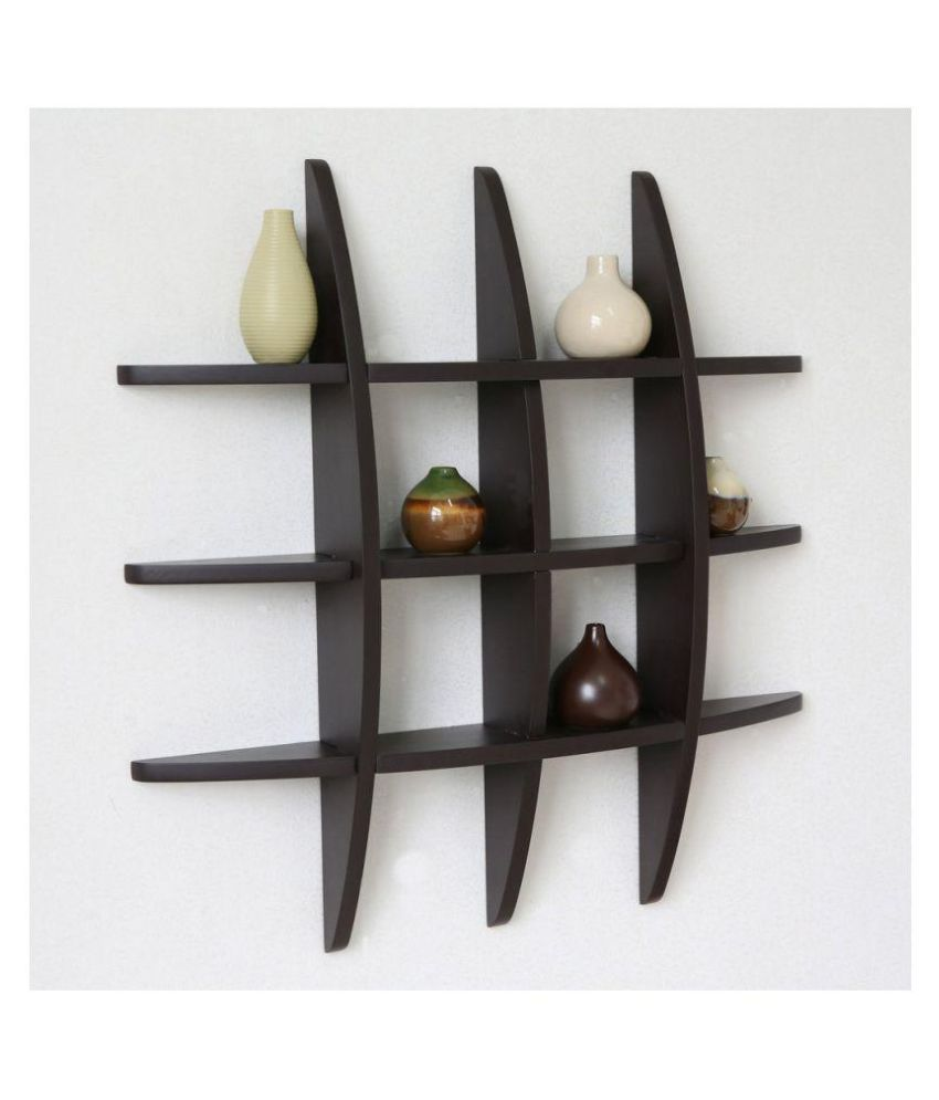 Office New Look Multi Section Decorative Wall Shelf