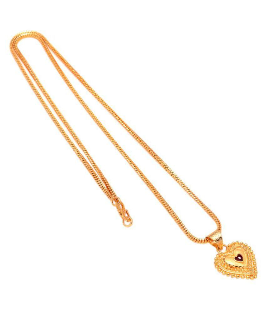 afff6553b588d Jewar Mandi Pendant Set Heart Pan Shape One Gram Gold Plated Finish For  Women & Girls Artificial Jewelry