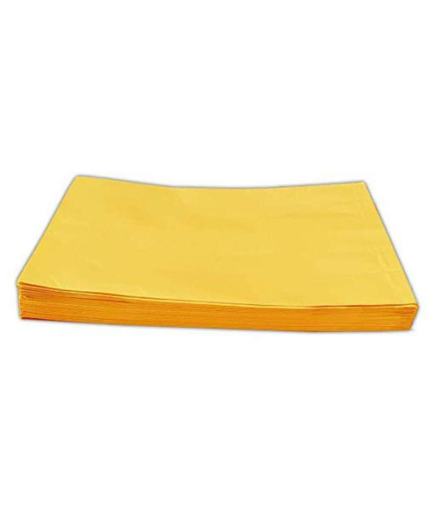 Laminated Yellow A4 Envelopes Size: 10 Inch X 12 Inch Pack of 50