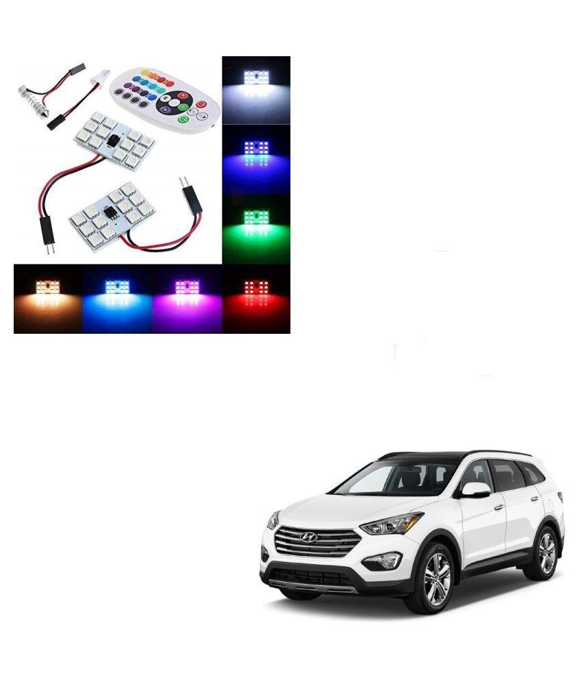 Auto Addict Car 12 LED RGB Roof Light with IR Remote Car Fancy Lights For Hyundai SantaFe