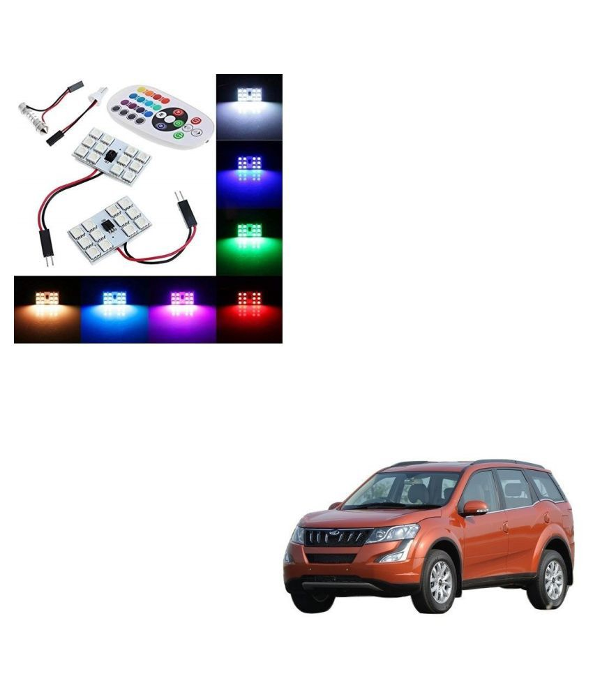 Auto Addict Car 12 LED RGB Roof Light with IR Remote Car Fancy Lights For Mahindra XUV 500 New