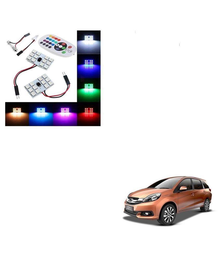 Auto Addict Car 12 LED RGB Roof Light with IR Remote Car Fancy Lights For Honda Mobilio