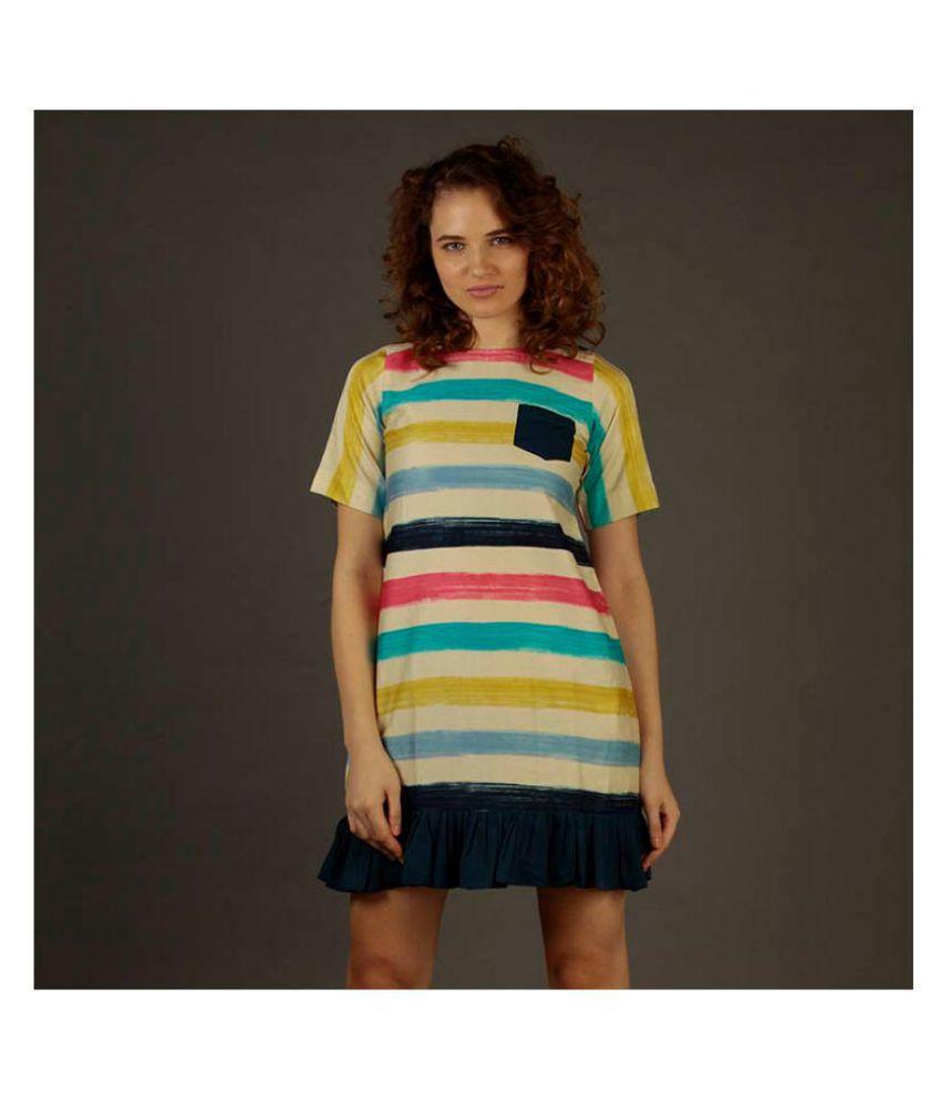 armaan khan designs Poly Cotton Multi Color T-shirt Dress