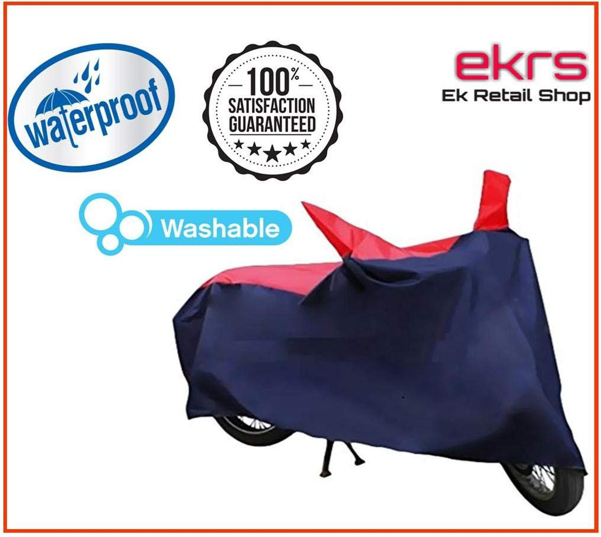 EKRS Nevy/Red Matty Waterproof Bike Body Cover for Triumph Thunderbird