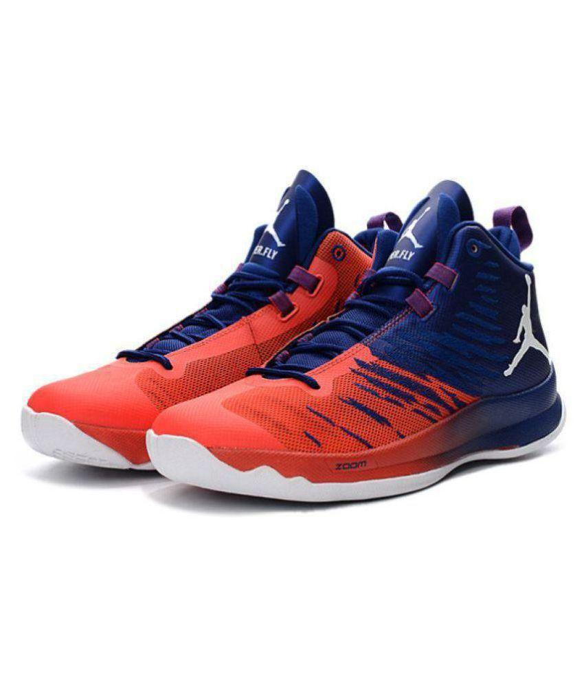 39fa076b5c2 Nike Jordan Super Fly 5 Blue Orange Midankle Male Blue: Buy Online ...